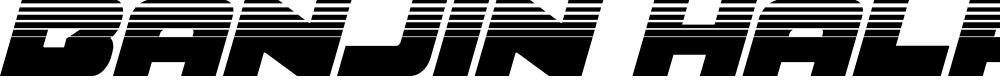 Preview image for Banjin Halftone Italic