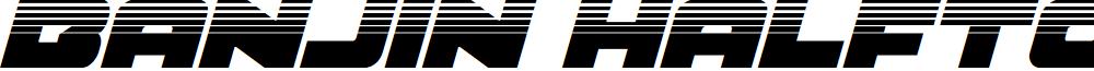 Banjin Halftone Italic