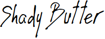 Preview image for Shady Butter Font