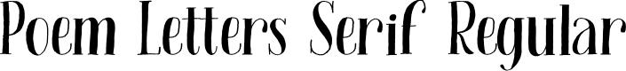 Preview image for Poem Letters Serif Regular Font
