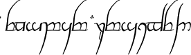 Preview image for Tengwar Cursive Font
