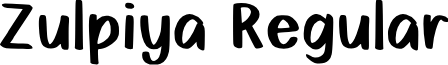 Zulpiya Regular