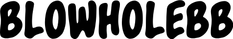 Preview image for BlowholeBB Font