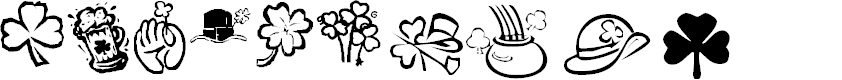 Preview image for KR St Patricks Day Dings Font