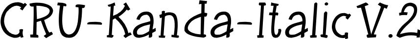 Preview image for CRU-Kanda-Italic V.2