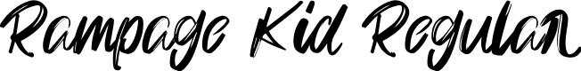 Preview image for Rampage Kid Regular Font