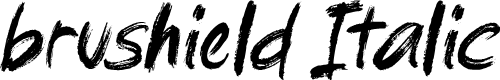 Preview image for brushield Italic Font