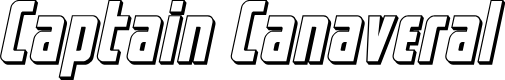 Preview image for Captain Canaveral 3D Italic