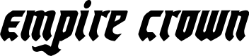 Preview image for Empire Crown Condensed Italic