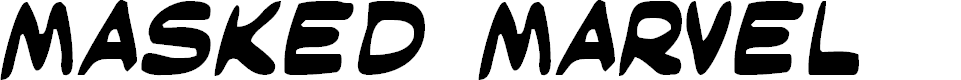 Preview image for Masked Marvel Font
