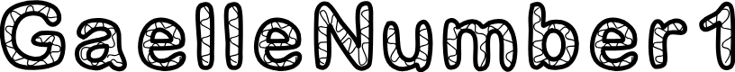 Preview image for GaelleNumber1 Font