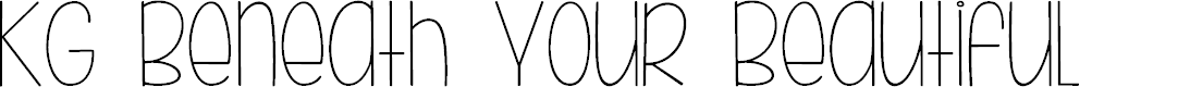 Preview image for KG Beneath Your Beautiful Font