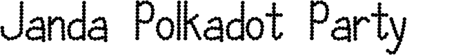 Preview image for Janda Polkadot Party Font