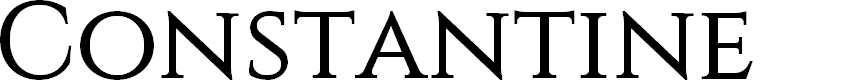 Preview image for Constantine Font