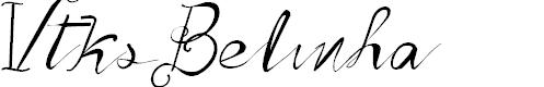 Preview image for Vtks Belinha Font