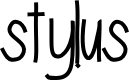 Preview image for stylus Font