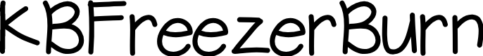 Preview image for KBFreezerBurn Font
