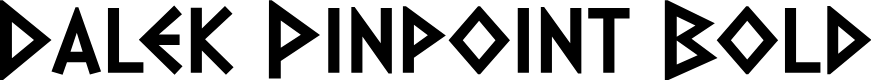 Preview image for Dalek Pinpoint Bold Font