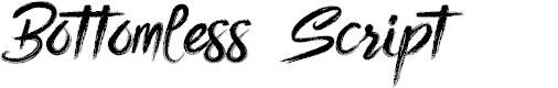 Preview image for Bottomless Script Font