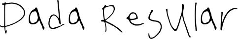 Preview image for Dada Regular Font