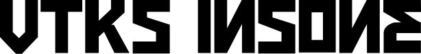 Preview image for VTKS INSONE Font