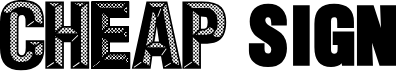 Preview image for CheapSign Font