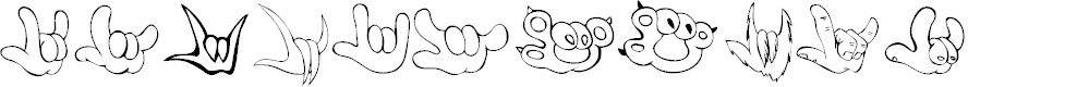 Preview image for ZOE ILYhands 1.0 Font