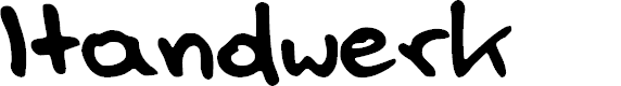 Preview image for Handwerk Font