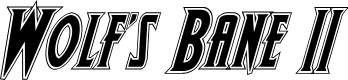 Preview image for Wolf's Bane II Academy Italic