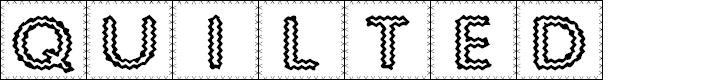 Preview image for Quilted Indian Font