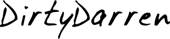 Preview image for DirtyDarren Font