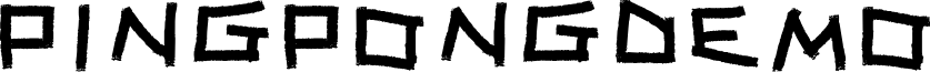 PINGPONGdemo font
