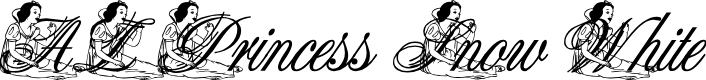 Preview image for AL Princess Snow White Font
