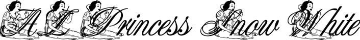 Preview image for AL Princess Snow White Font
