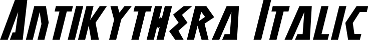 Preview image for Antikythera Italic
