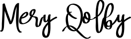 Preview image for Mery Qolby Font