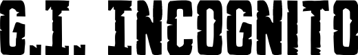 Preview image for G.I. Incognito Regular Font
