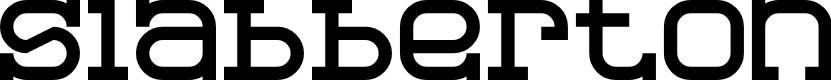 Preview image for Slabberton Regular Font