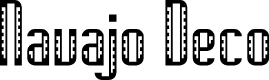 Preview image for Navajo Deco Regular Font