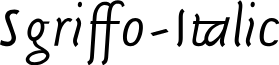 Sgriffo-Italic