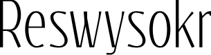 Preview image for Reswysokr Font
