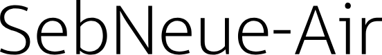 Preview image for SebNeue-Air Font