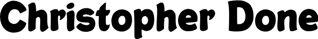 Preview image for Christopher Done Font