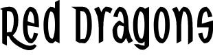 Preview image for Red Dragons Font