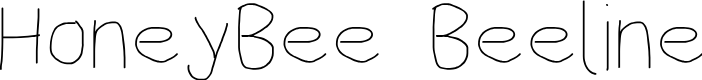 Preview image for HoneyBee Beeline Font