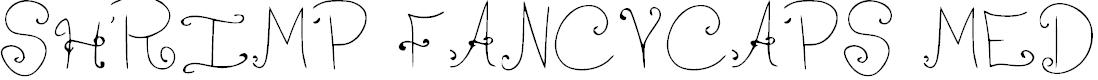Preview image for Shrimp FancyCaps Medium Font