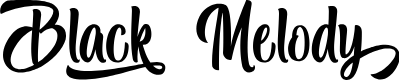 Preview image for Black Melody - Personal Use Font