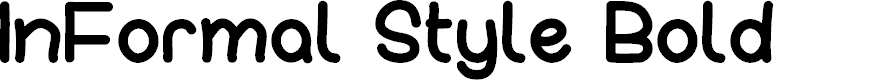 Preview image for InFormal Style Bold Font