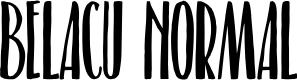Preview image for Belacu Normal Font