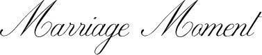 Preview image for Marriage Moment Personal Use Font